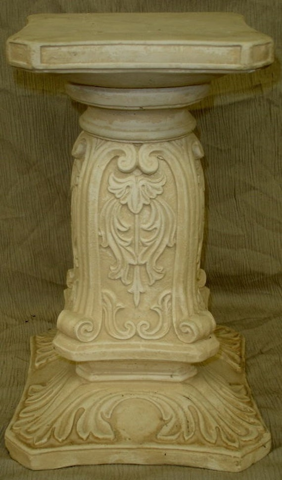 14 ornate pedestal column sculpture home decor for Column decorations home