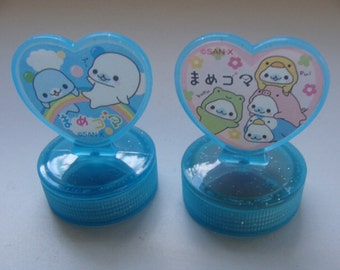 Kawaii Baby seal stump with ink.select one.O.K. Or Thank you!