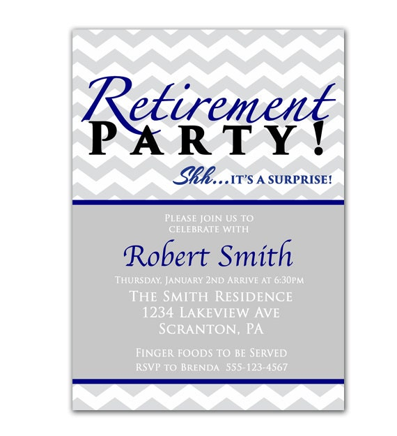 Surprise Retirement Party Invitation Farewell by ...