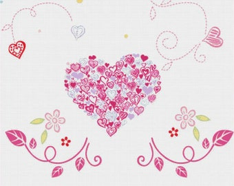 Floral Heart PDF Cross Stitch Pattern