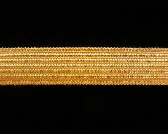 "821.1 Metallic galloon trim - ""Military Stripe"" bright gold 1/2"" (13mm)"