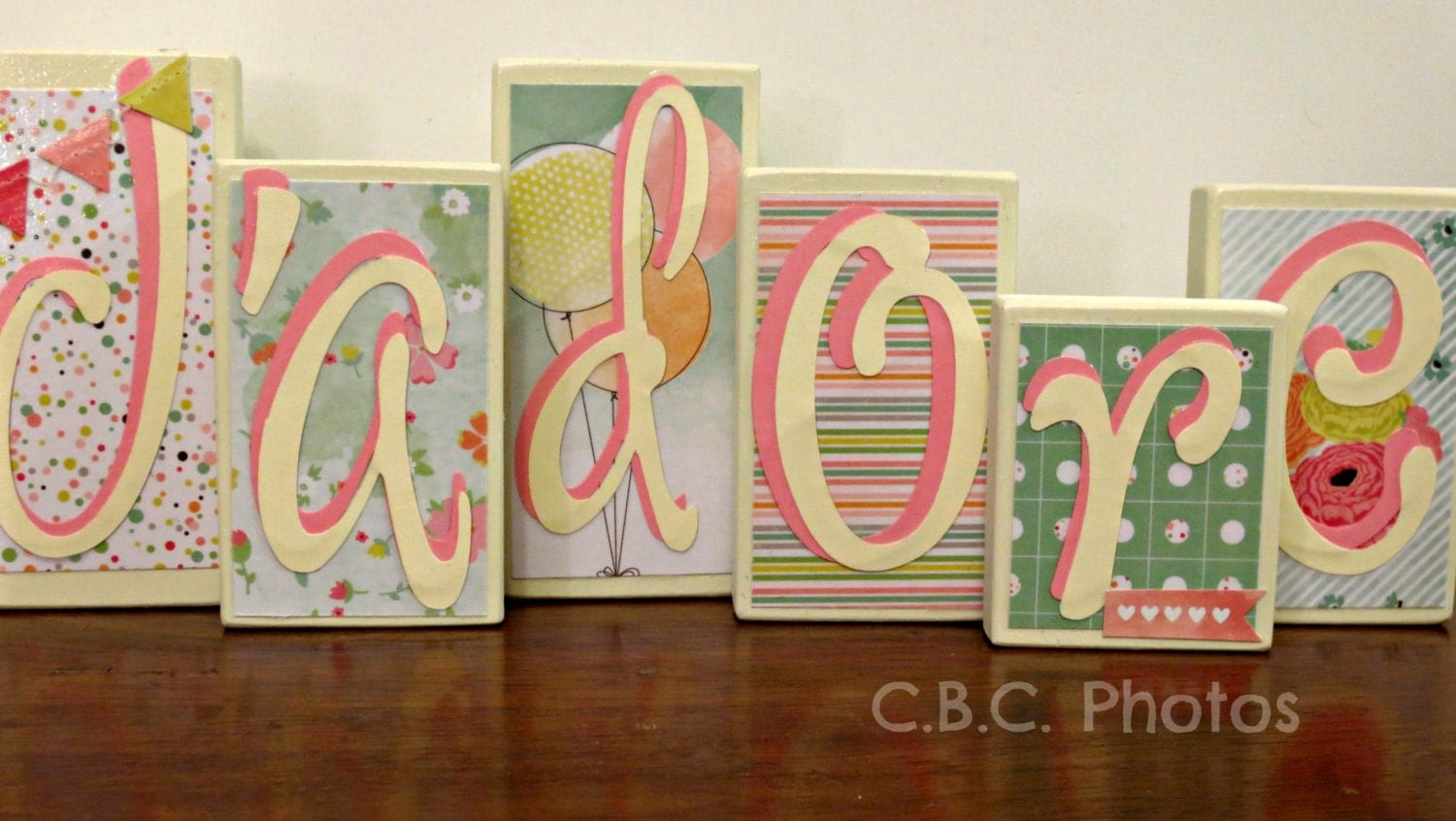 home decor wood letter blocks j39adore by thechubbybunnyshop With letter blocks home decor