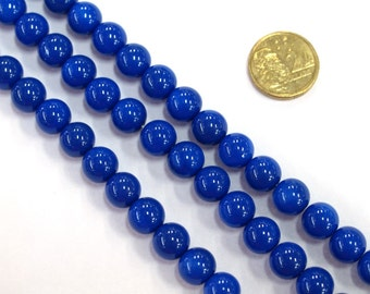 1 x 40cm Opaque 8mm Glass Bead Strand beads #RV25