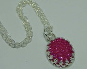 Pink Druzy Quartz Necklace Druzy Quartz Necklace Pink Druzy