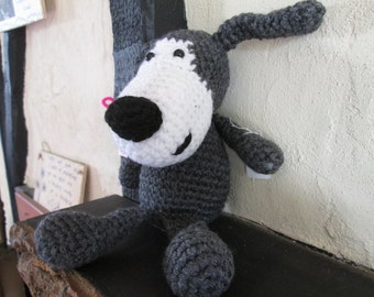 lovely soft and cuddly toy dog, medium, made to order only