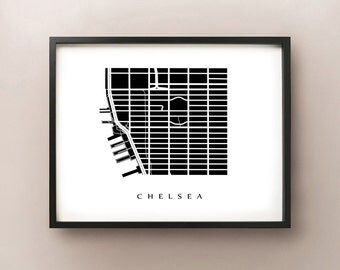 Chelsea Map - Manhattan, NYC Neighborhood Art Print