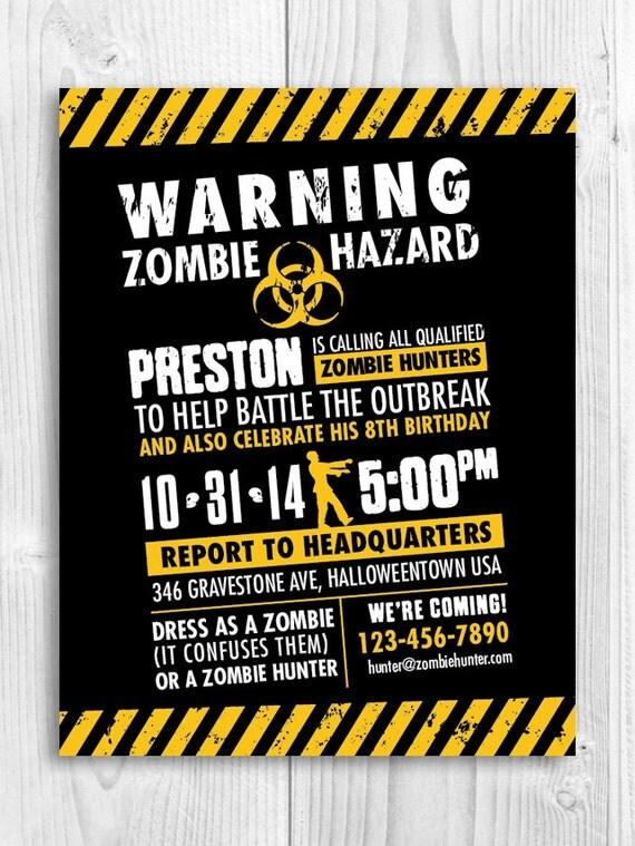 Zombie Hunter Invitation