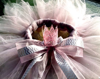 Birthday outfit, crystal embellished tutu & crown