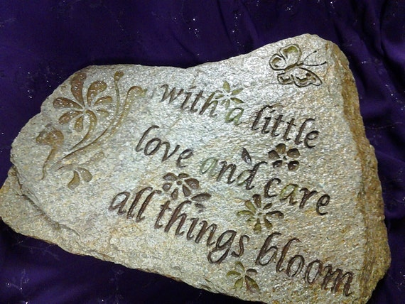 Personalized garden stoneengraved stepping stonesflower - Personalized garden stepping stones ...