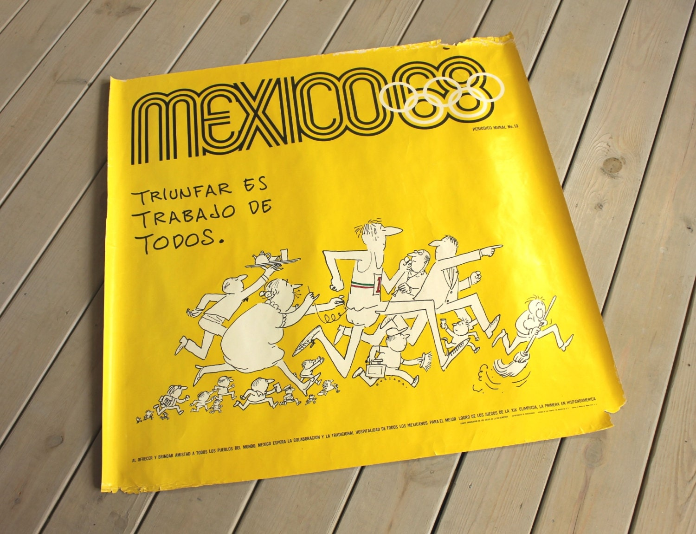 1968 Mexico Summer Olympics Original Periodico Mural No. 13 by Abel ...