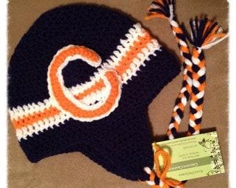 Chicago Bears ear flap hat