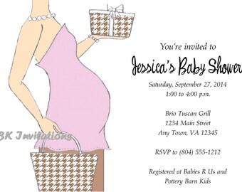 Baby Bump Shower Invitation
