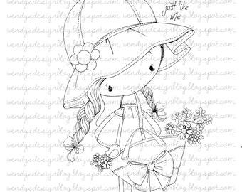 Weinig bloemenmeisje