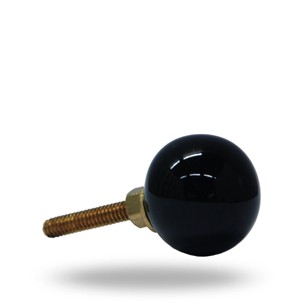 Glass Globe Door Knob classic black glass knob, globe shaped decorative door knob for a