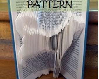 Book folding Pattern: DOG design (including instructions) – DIY gift – Papercraft Tutorial