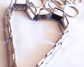 1 inch key fob, 50 sets of nickel key kob hardware, wrist key fob key chains