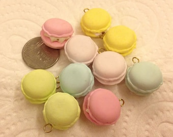 Charm Sweet - Macaron - 20pcs Mix Colors 18mm For Deco Charms Dolls House - LOT234
