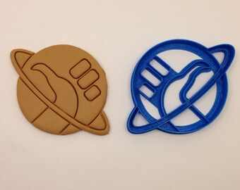 Hitchhikers Guide to the Galaxy thumb Cookie Cutter 3D Printed