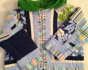 I2   Boys size 12-24 months handmade quilted jacket
