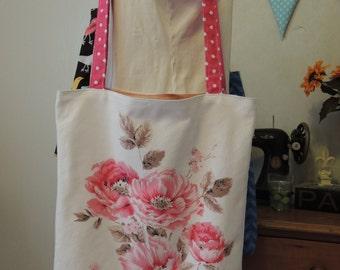 Vintage tablecloth tote