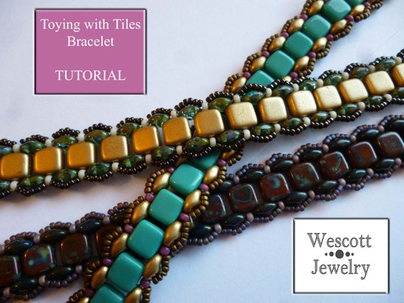 Pattern For Toying With Tiles Bracelet