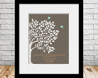 Wedding Thank You Gift, Family Tree Print, Like Branches on a Tree, Birds flying away, Thank you Gift for Dad, Fathers Day