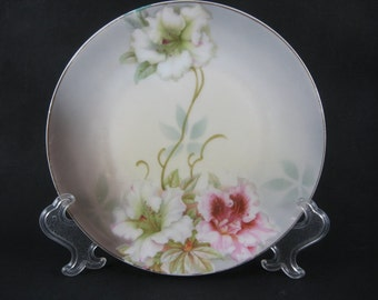 Vintage 1930's 40's China German  Hand Painted Floral Flowers  Plate   2014393 - 07