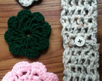 Oatmeal Toddler Crochet head band, toddler head band, toddler hair band, crochet hair band, crochet baby head band, crochet baby hair band