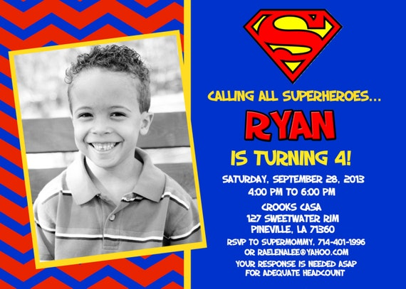 Superman Superhero Birthday Party