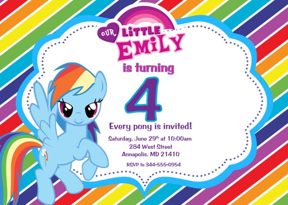 Invitation My Little Pony as nice invitations example