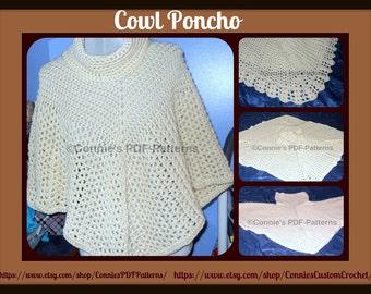 Spring/Fall Cowl Poncho Pattern