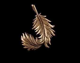 Leaf Brass Pendant