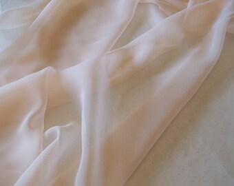 "Polyester chiffon Wintermelon color; 60"" wide chiffon fabric priced per 1 yard"