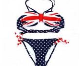 British flag bikinis, British style swimwear, sexy bikini, fashion girl's swimsuit, women swimwear beach.    B010