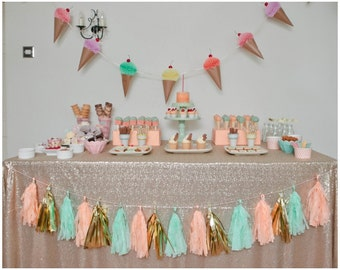 Large Sequin Tablecloth - Lots of colours available