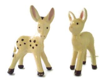 Donkey and fawn figurines