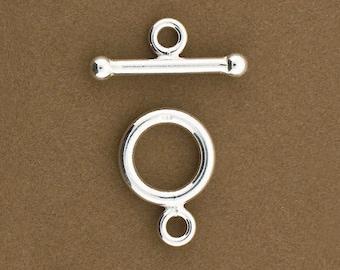 Sterling Silver .925 Toggles, Sterling Silver Toggles, 2 Sets, High Polished Sterling Silver. 12mm TG09