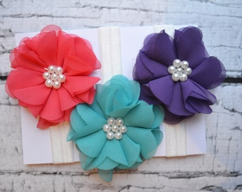 Set of 3 Headbands....Headbands...Baby Girl
