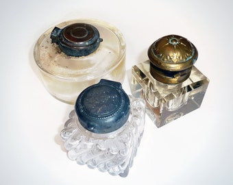 A Trio Of Victorian Inkwells