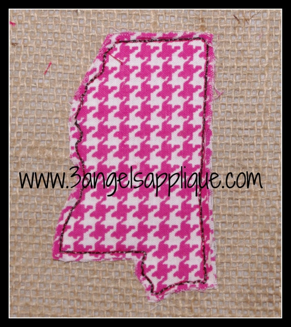 Mississippi raggy embroidery design sizes instant
