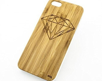 Bamboo Wood Case Cover for Apple iPhone 5/5S Diamond