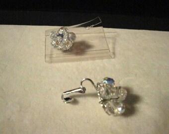 Vintage Crystal Clip Earrings