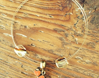 Made With Music - Guitar String Bracelet with Lovers Hearts