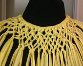 Yellow Tribal Necklace with Matching Bracelet