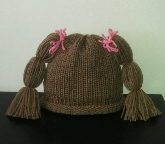 Cabbage Patch Hat Wig Knit newborn crochet outfit baby girl