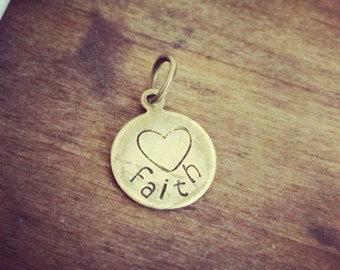 Tiny antique brass custom charm