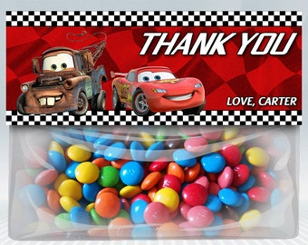 Disney Cars Favor Bag Toppers
