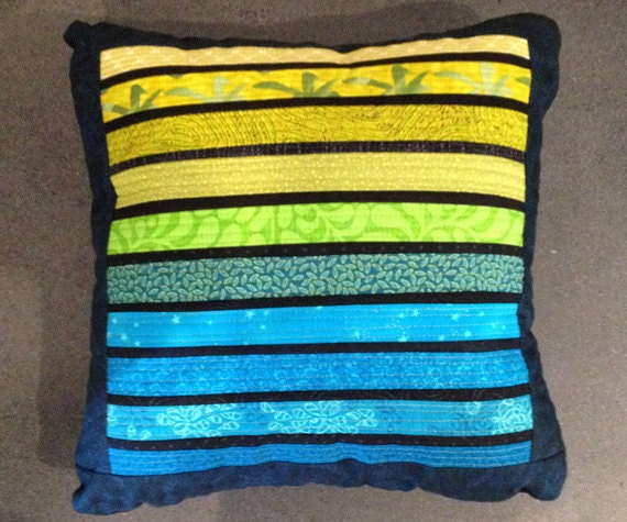 CLEARANCE: Quilted pillow. Modern accent pillow. Throw pillow.