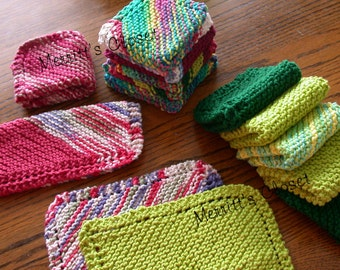 Easy Knit Dishcloth or Wash Cloth Pattern, Perfect Learn to Knit Pattern, INSTANT DOWNLOAD PDF