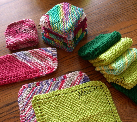 Easy Knit Dishcloth or Wash Cloth Pattern Perfect Learn to
